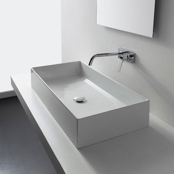 Умивалник за баня с голяма вместимост