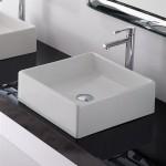 Малка квадратна мивка за плот монтаж