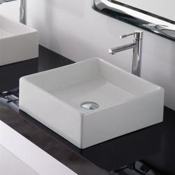 Умивалник за баня квадрат - за монтаж на плот