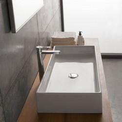 Умивалник за баня за монтаж върху плот