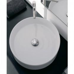 Мивка за баня в плитка кръгла форма