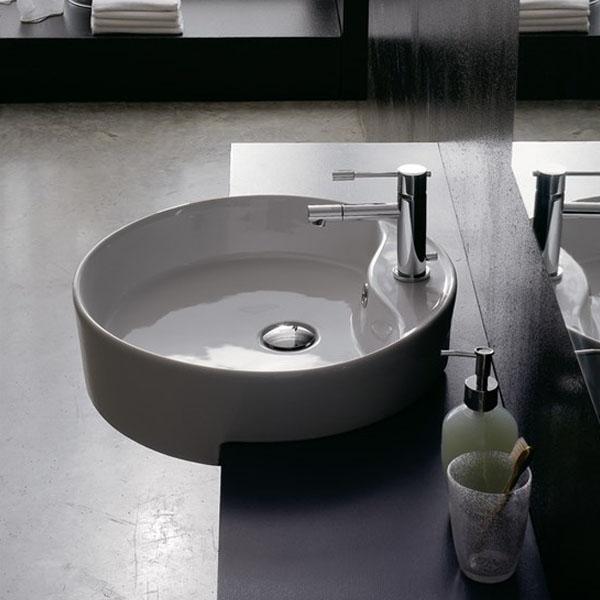 Мивка за баня за вграждане в плот - геоидна форма