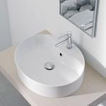 Мивка за баня с отвор за смесител - голямо кръгло тяло