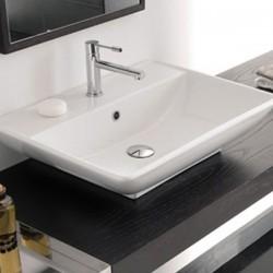 Прекрасен модел мивка за баня с отвор за смесител