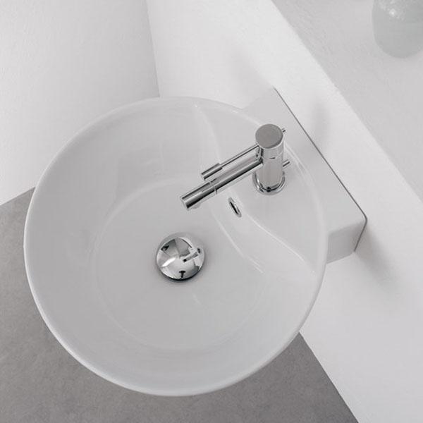 Конзолна мивка за баня - перфектна сферична форма