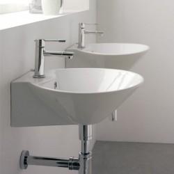 Стенна мивка за баня в конусовидна форма