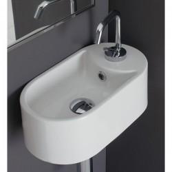 Винтидж мивка за баня със страничен отвор за смесител