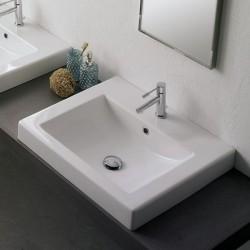 Квадратна мивка за баня - практичен дизайн