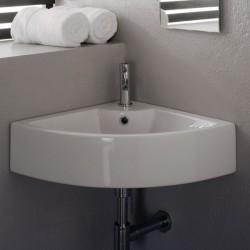 Ъглова мивка за баня в компактен дизайн