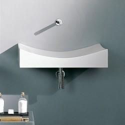 Мивка за баня за стенен монтаж без отвор за смесител
