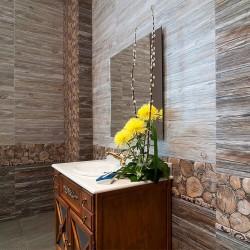 Плочки за баня/ Колекция Sea Wood  от Venus/ Баня с декор на дърво