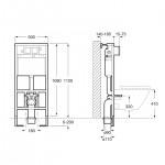 Структура за вграждане за стенна тоалетна чиния – In-Wall