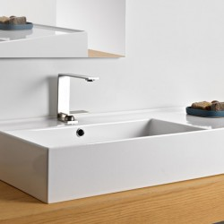 Мивка за баня серия Teorema 2.0 – модул 100 десен плот