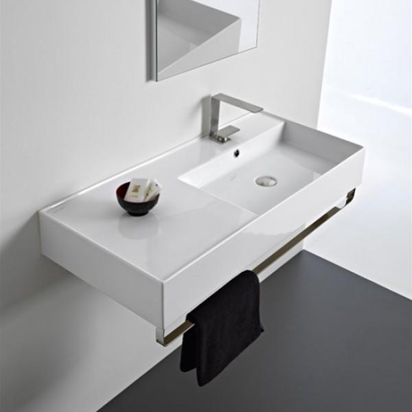 Мивка за баня серия Teorema 2.0 – модул 100 ляв плот