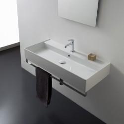 Дълга мивка за баня Teorema 2.0 – с два отвора за смесители