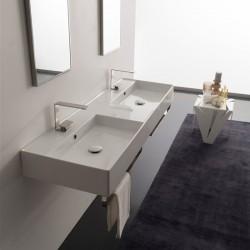 Двойна мивка за баня Teorema 2.0 – екстра размер