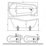 Стояща вана с крачета ретро – Castellana