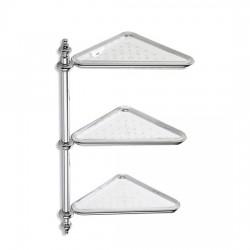 Ъглова етажерка за душ три рафта – Castellana