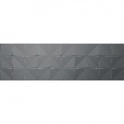 Glaciar Silver Box – сребристи стенни плочки за баня с декор
