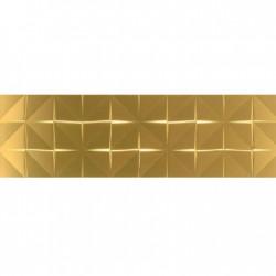 Glimpse Gold Box – златисти стенни плочки за баня с геометричен декор
