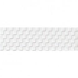 Glaciar White Gilt – бели стенни плочки за баня триизмерен ефект
