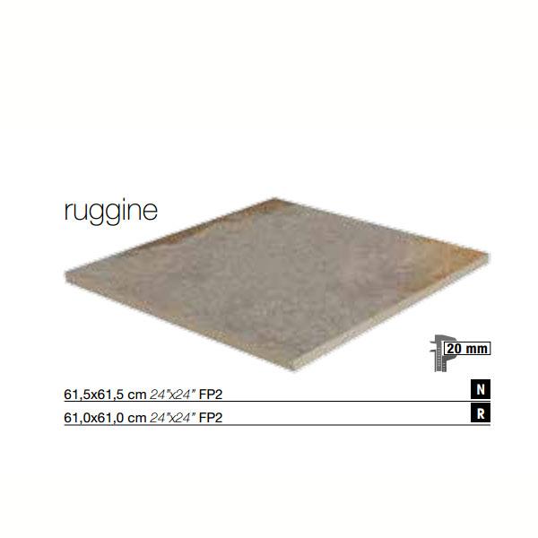 Гранитогресни плочки за отвън Fp2 Ruggine / Sparkly
