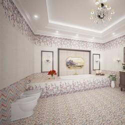 Модерни плочки за баня/ Колекция Lollipop Zigzag Pink от MAPISA