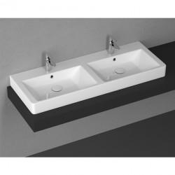 Мивка за баня – двойна за плот монтаж – Purita на Isvea (Италия)