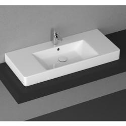 Мивка за баня екстра размер – за плот монтаж – Purita на Isvea (Италия)
