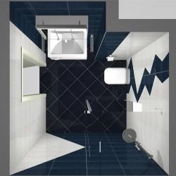 Плочки за баня/ Колекция Мy Wall от IRIS/ Баня с плочки в бял, сив, метален и океански цвят