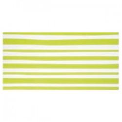 Стенни плочки за баня на зелено-бели ивици на ширина