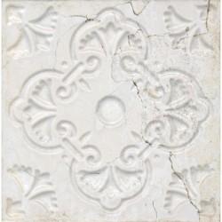 Ornato Aged White – светли декорни стенни плочки контрарелеф