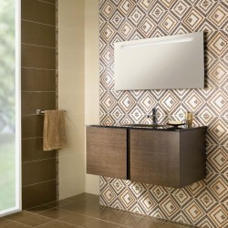 Плочки за баня/ Колекция Aurea Beige от CERAMICA LATINA/ Баня с плочки във финни дизайнерски елементи