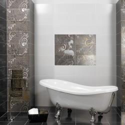 Плочки за баня/ Колекция Aurea Negro от CERAMICA LATINA/ Баня с плочки във финни дизайнерски елементи