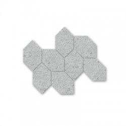 Сиви хексагонови форми в плочка Malla Fabric  Gris