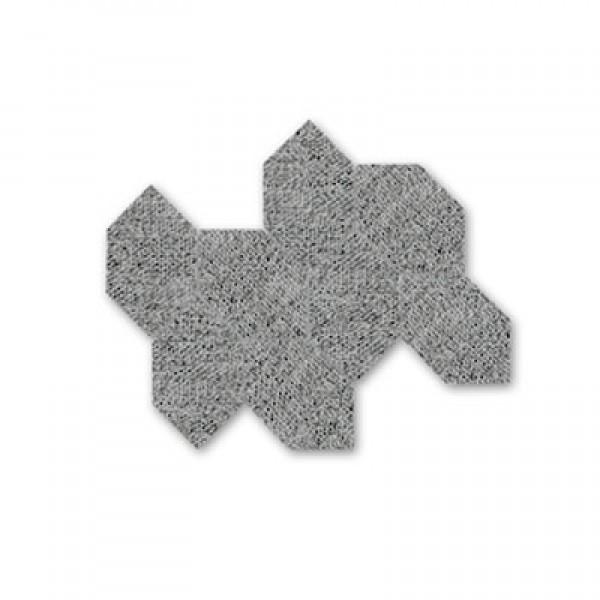 Сиви хексагонови форми в плочка Malla Fabric Grafito