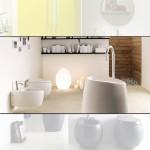 Бяла тоалетна чиния за стена/ Колекция Moai
