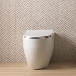 Стояща тоалетна чиния LIKE в елегантна овална форма