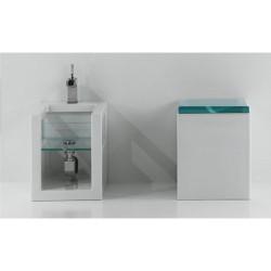 Стояща тоалетна чиния със стъклен капак