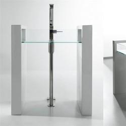 Стояща мивка със стъклен светъл отвор