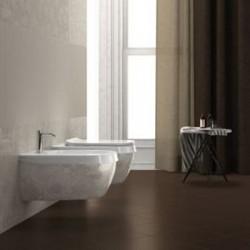 Бежово биде за стенен монтаж италиански дизайн – Abito Decoro Rice 56
