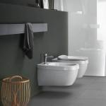 Биде за стенен монтаж италиански дизайн – Abito Onde Grigio 56