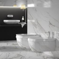 Стенна тоалетна чиния ефект мрамор – Abito Calacatta Lux 56