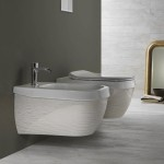 Окачена тоалетна чиния италиански дизайн – Abito Righe Oro 56