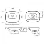 Мивка за баня италиански дизайн – Abito Pietra Di Noto