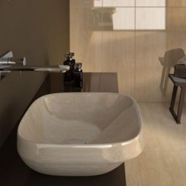 Мивка за баня за плот ефект травертин – Abito Travertino