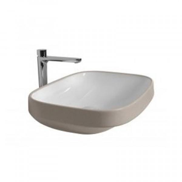 Мивка за баня за плот бежово-кафяво – Abito Earth