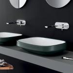 Мивка за баня за плот тъмно зелена –  Abito Night Green