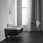 Окачена тоалетна чиния в черен порцелан Hatria (Италия)