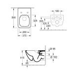 Конзолна  тоалетна чиния - немски дизайн